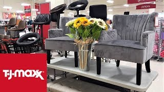 TJ MAXX FURNITURE  ARMCHAIRS CHAIRS HOME DECOR - SHOP WITH ME SHOPPING STORE WALK THROUGH 4K
