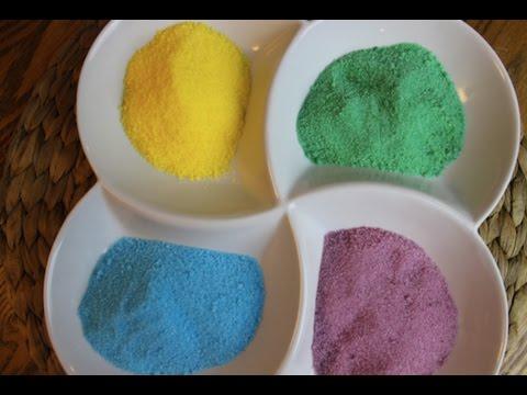 55ad3aea6 طريقة عمل السكر الملون في البيت بطريقة سهلة Easiest , mess free way to make  colored sugar