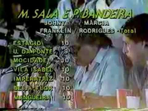 Apuração das escolas de samba (1984) - Tv Manchete