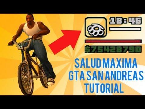 GTA San Andreas PS2 Tutorial de obtener Salud Maxima de 4 formas