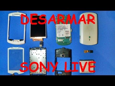 Desmontar o Desarmar Sony Ericsson Live WT19 En Español HD