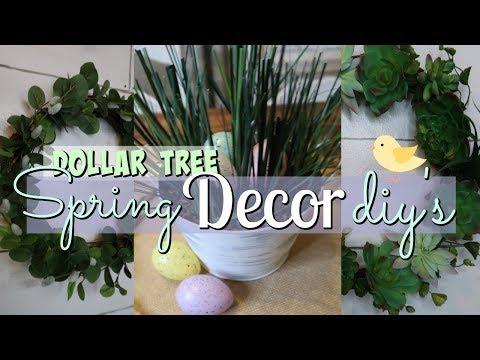 DOLLAR TREE SPRING DIY'S // DOLLAR TREE SPRING DECOR IDEAS