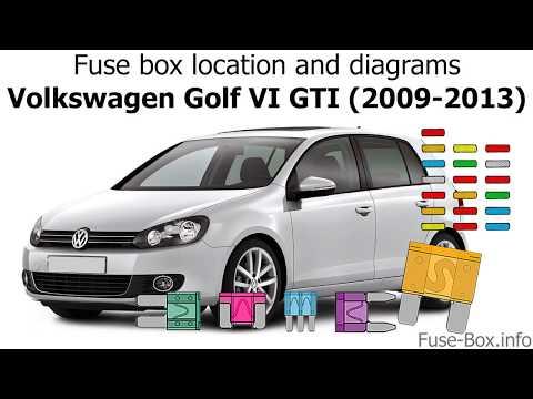 fuse box location and diagrams: volkswagen golf vi gti (2009-2013) - youtube  youtube