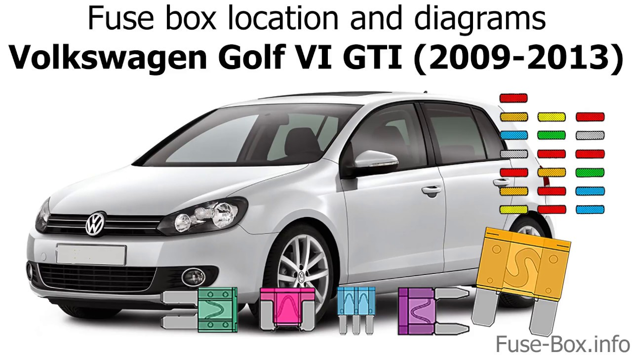 Fuse box location and diagrams: Volkswagen Golf VI GTI (2009-2013) - YouTube  YouTube