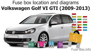Fuse box location and diagrams: Volkswagen Golf VI GTI (2009-2013) - YouTubeYouTube