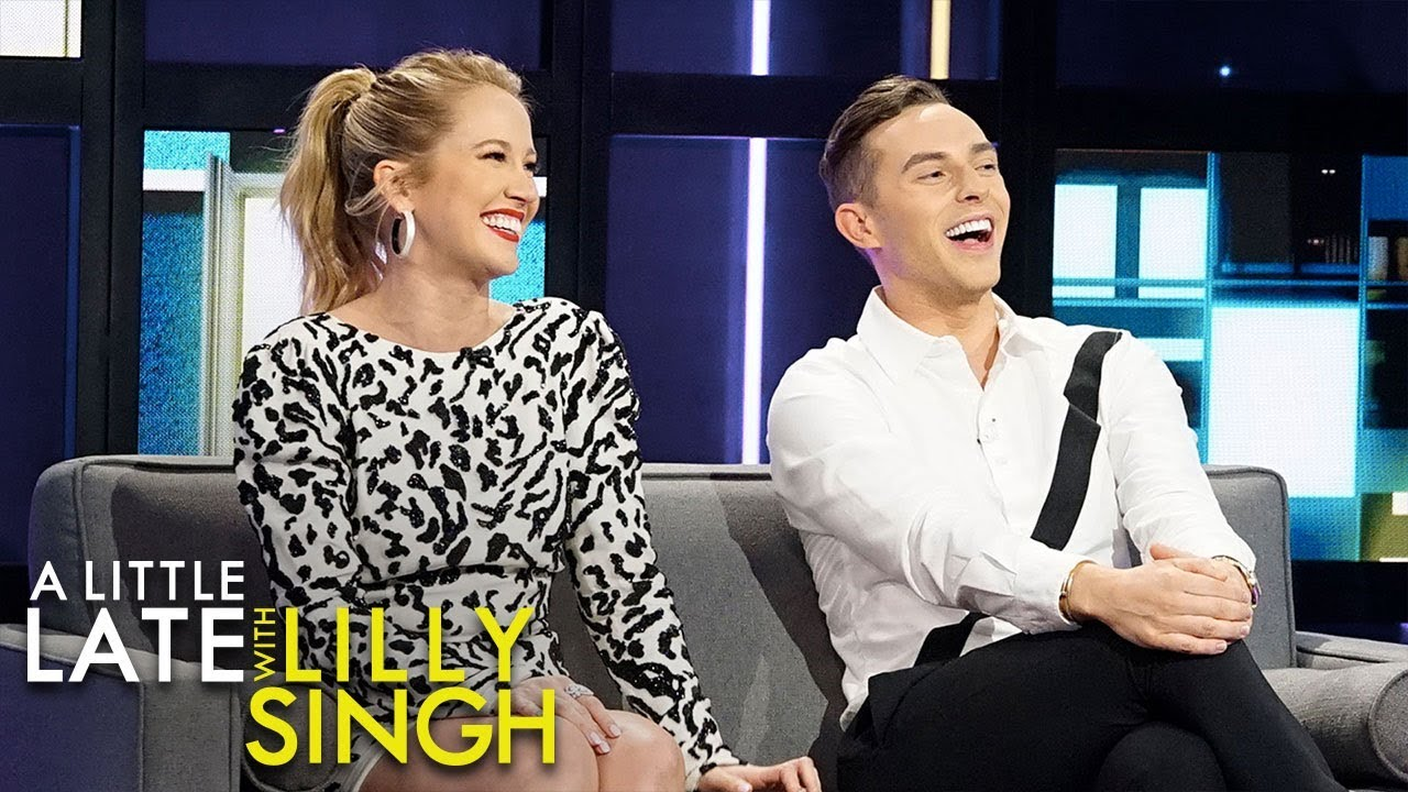 Anna Camp Teaches Adam Rippon and Lilly How to Sing