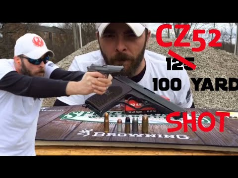 100 yard shot with the CZ52 plus a bit of knowledge