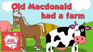 Old Macdonald Had A Farm | Toddler Fun Learning | Nursery rhyme