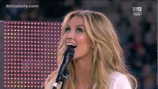 Delta Goodrem performs