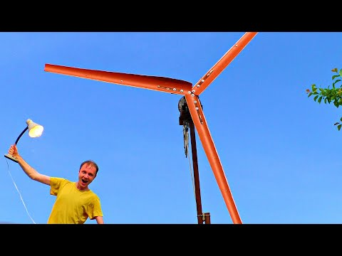 Powerful Wind Generator DIY / Free Energy / Green Energy