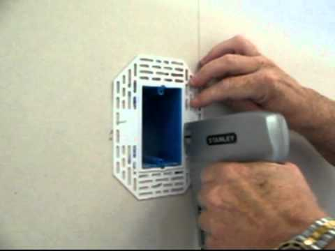 electrical box drywall 1