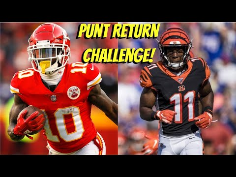 WHO CAN GET A PUNT RETURN TD FIRST?!? TYREEK HILL VS JOHN ROSS!! FASTEST IN THE GAME!!