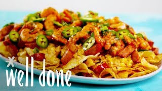 Loaded Shrimp Nachos With A Twist: Taking A Shrimp Boil To The Next Level  Recipe  Well Done