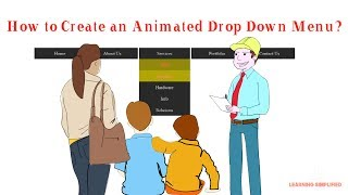 how to make transition drop down navigation menu in html and css: with animation