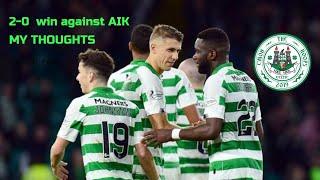 Celtic vs AIK after match reaction   Fraser forster   Uefa Europa league   CELTIC FC