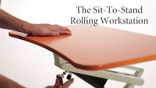 Levenger Sit-to-stand Rolling Workstation Video