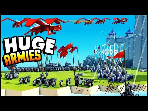 HUGE ARMY vs Impenetrable Castle! NEW Creative Mode - Kingdoms and Castles Gameplay