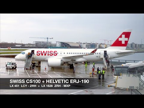 TRIP REPORT | SWISS CS100 + Helvetic ERJ-190 | London LCY ✈ Milan MXP via Zürich