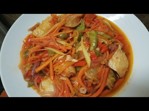 Escabecheng Salmon Na Isda(SALMON FISH ESCABECHE)