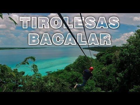 Tirolesa en Bacalar Quintana Roo, Mexico Kan kin
