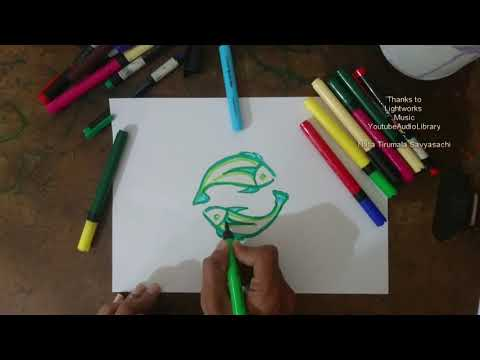 How To Draw Horoscope Pisces Sign