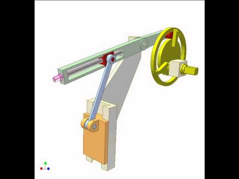 Cam And Crank Slider Mechanism 3 Youtube