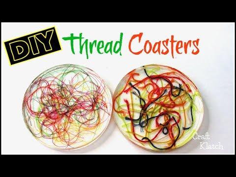 Thread Coaster DIY   Resin Crafts   Another Coaster Friday   Craft Klatch
