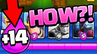 HOW? +14 Elixir? Clash Royale Strategy