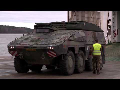 Dutch equipment arrives in Lithuania - B-Roll