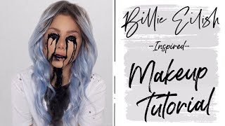 Billie Eilish inspired halloween makeup tutorial | Taylor Bee