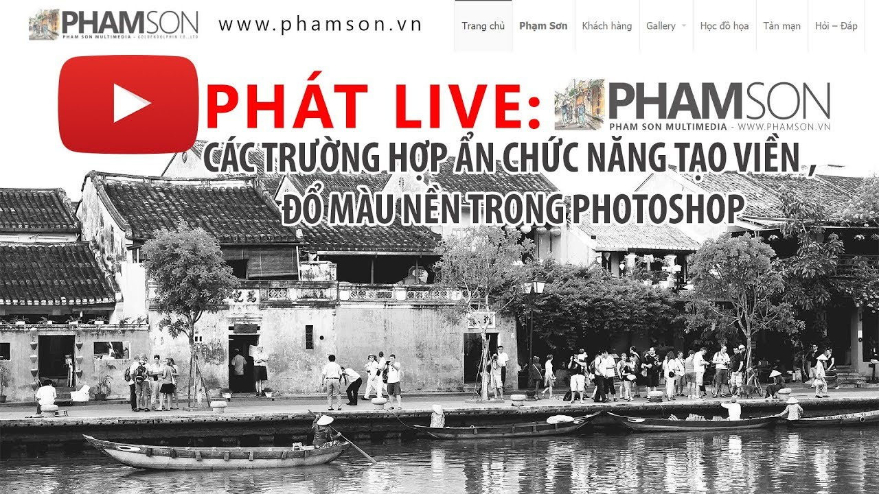 Phát live : Các trường hợp ẩn chức năng tạo viền , đổ màu nền trong photoshop