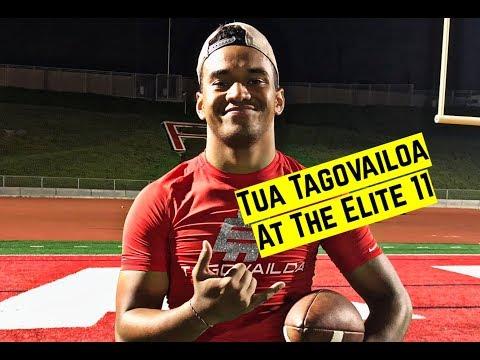 Tua Tagovailoa passing highlights at the Elite 11