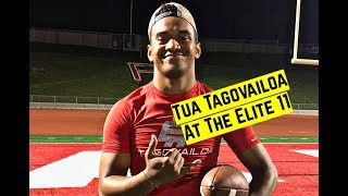 Tua Tagovailoa passing highlights at the Elite 11