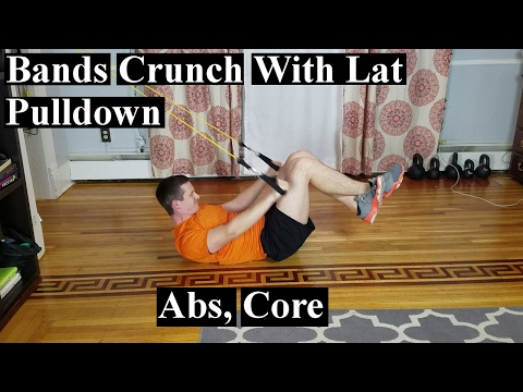 How To: Bands Crunch With Lat Pull Down (Abs, Back, Core)