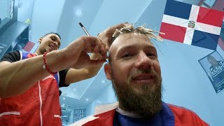 GERMAN VIST DOMANICAN BARBER SHOP (NYC VLOG)!! | Kamberg TV