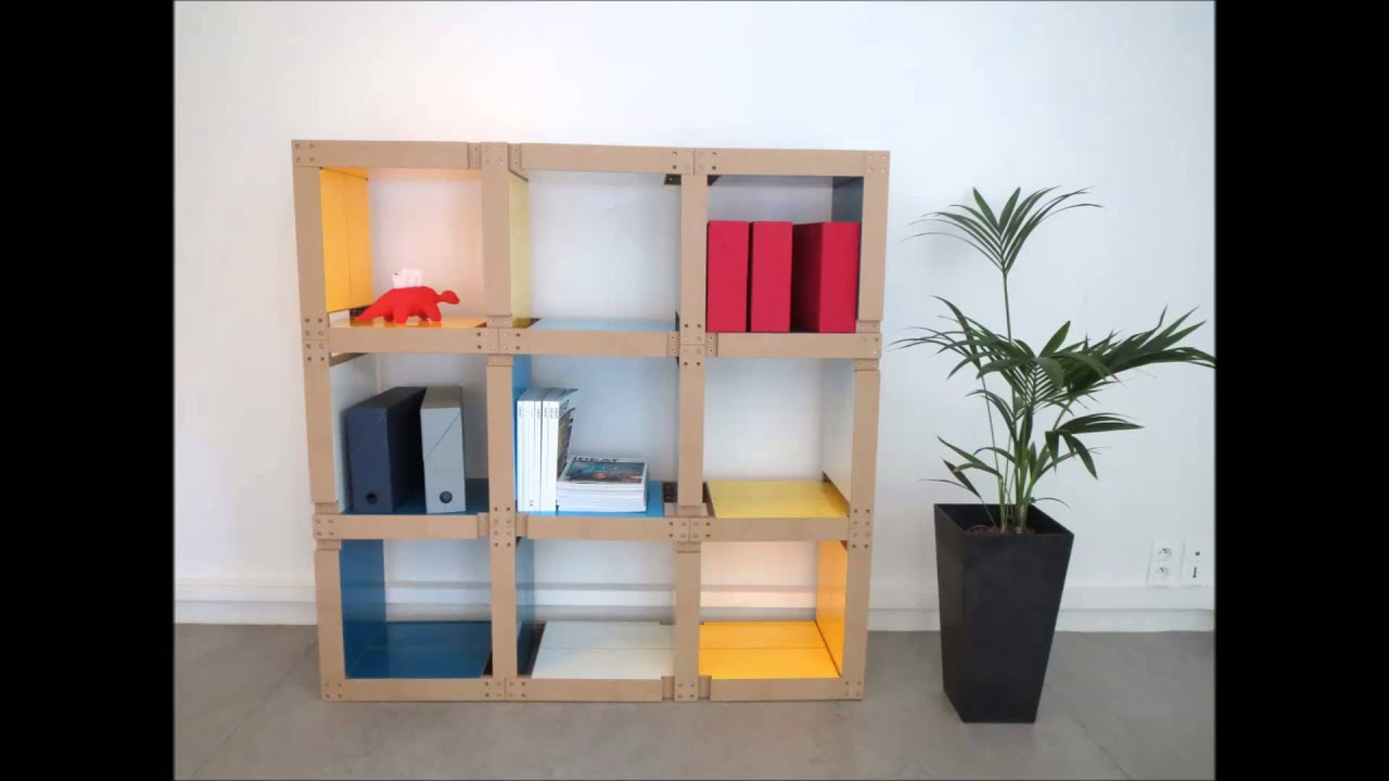 meubles modulables fabulem la biblioth que 24 lems yellow blues youtube. Black Bedroom Furniture Sets. Home Design Ideas