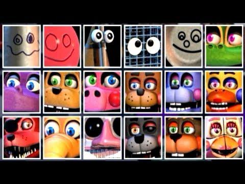 Fnaf 6 All Animatronics