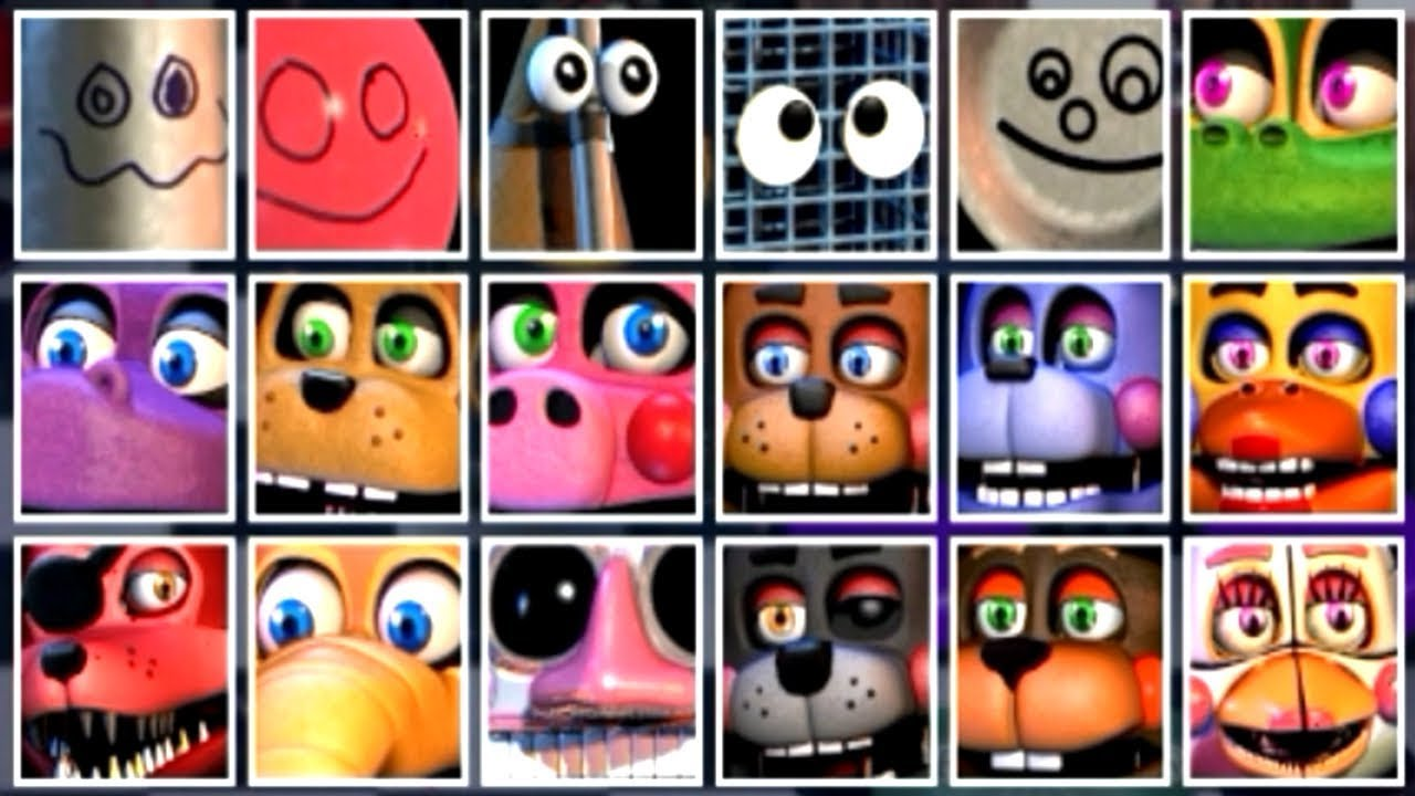 Five Nights at Freddy's 6 ALL ANIMATRONICS [EXTRAS 2]
