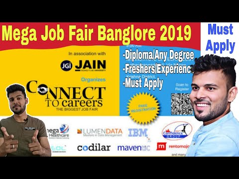 Mega Job Fair Bangalore 2019 | Bangalore Jobs | Job Fair 2019 | Any Degree