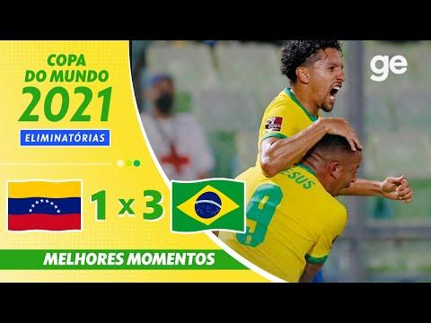 VENEZUELA 1 X 3 BRASIL | MELHORES MOMENTOS | 11ª RODADA ELIMINATÓRIAS DA COPA | ge.globo