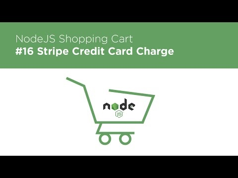 [Programming Tutorials] NodeJS / Express / MongoDB - Build a Shopping Cart - #16 Making Charges wit