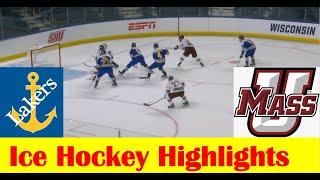 Lake Superior State Vs UMass Ice Hockey Game Highlights, 2021 NCAA Bridgeport Regional Semifinal