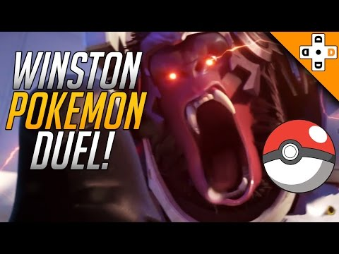 Overwatch FUNNY & WTF Moments 2 - WINSTON POKE-DUEL! - Highlights Montage