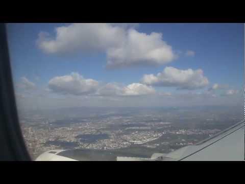 Landeanflug Frankfurt am Main - arrival Frankfurt Main - Skyline Must See 08.04.2012