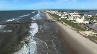 Surf City, NC After Joaquin 10-7-2015 Aerial Video