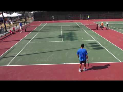 07 30 2016 J Lieu Vs Joshua Xu ITA Cal State LA men's tennis