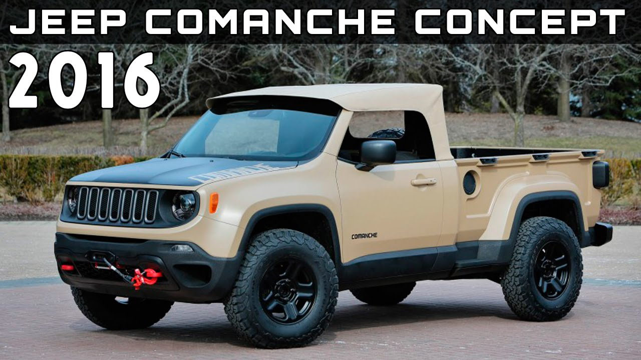 2016 Jeep Comanche concept Review Rendered Price Specs ...