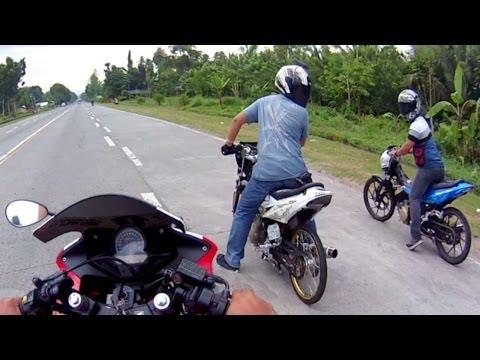 Drag Race Honda CBR 150 vs Suzuki RAIDER Belang SATRIA FU 150