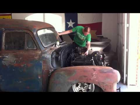 1955 Chevy Panel Truck Start w/ Mild Rev 350 TBI