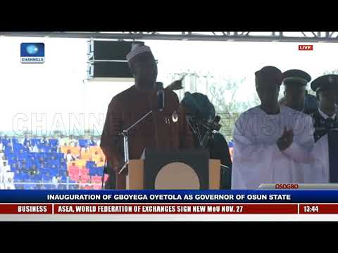 Gboyega Oyetola Sworn In, Takes Over As Osun State Governor Pt.5 |Live Event|